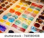 colourful sunglasses fashion... | Shutterstock . vector #768580408
