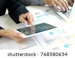 business businessman in meeting ...   Shutterstock . vector #768580654