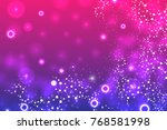 structure molecule and... | Shutterstock .eps vector #768581998