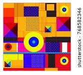 trendy geometric elements... | Shutterstock .eps vector #768582346