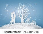 illustration of love  lovers... | Shutterstock .eps vector #768584248