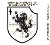 design patch. heraldic shield... | Shutterstock .eps vector #768584710