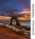 Sunset In Moab  Utah Around...