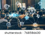 wireless communication... | Shutterstock . vector #768586630
