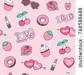 cute decorative elements... | Shutterstock .eps vector #768588688