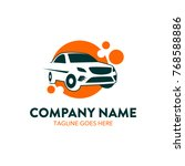 car rental logo template.... | Shutterstock .eps vector #768588886