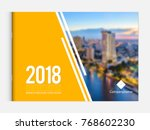 business brochure cover design... | Shutterstock .eps vector #768602230