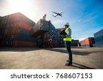 foreman control loading... | Shutterstock . vector #768607153
