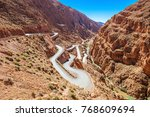 dades gorge is a gorge of the... | Shutterstock . vector #768609694