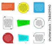 vector set of creative quote...   Shutterstock .eps vector #768609940