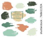 vector paint brush spots  hand... | Shutterstock .eps vector #768611524