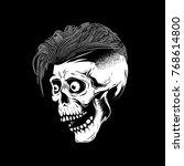 hipster skull illustration on...   Shutterstock .eps vector #768614800
