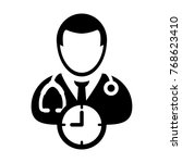 doctor appointment icon vector... | Shutterstock .eps vector #768623410