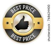 gold best price badge   button... | Shutterstock .eps vector #768624400