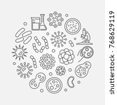 virus and bacteria round... | Shutterstock .eps vector #768629119