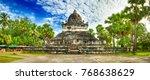 beautiful view of stupa in wat... | Shutterstock . vector #768638629