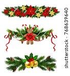 vector christmas fir decoration ... | Shutterstock .eps vector #768639640