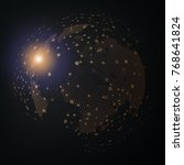 technology image of globe.... | Shutterstock . vector #768641824