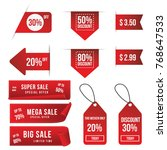 sale banner sale tag price tag... | Shutterstock .eps vector #768647533