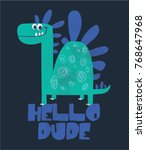 cute dinosaur illustration as... | Shutterstock .eps vector #768647968
