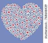 social network background. like ... | Shutterstock .eps vector #768648439