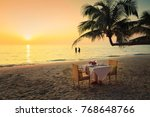 a loving couple enjoying the... | Shutterstock . vector #768648766