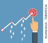 increase sales. businessman's... | Shutterstock .eps vector #768650116