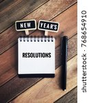 new year s resolutions concept. ... | Shutterstock . vector #768654910
