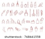 manicure and pedicure icons... | Shutterstock .eps vector #768661558