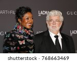 Small photo of George Lucas and Mellody Hobson at the 2017 LACMA Art + Film Gala held at the LACMA in Los Angeles, USA on November 4, 2017.