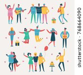 vector illustration in a flat... | Shutterstock .eps vector #768664090