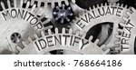 macro photo of tooth wheel... | Shutterstock . vector #768664186