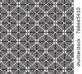 geometric seamless snow flakes... | Shutterstock .eps vector #768665410