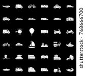 transportation icons set | Shutterstock .eps vector #768666700