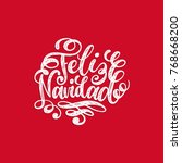 feliz navidad translated from... | Shutterstock .eps vector #768668200