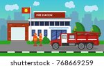 the composition of the fire...   Shutterstock .eps vector #768669259