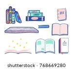 back to school seamless pattern ...   Shutterstock .eps vector #768669280
