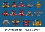 set of top down space ships for ...