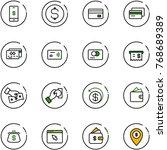 line vector icon set   mobile... | Shutterstock .eps vector #768689389