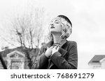 Happy French Woman. Portrait O...
