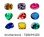 bright gems isolated on a white ... | Shutterstock . vector #768694183