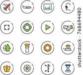 line vector icon set   plane... | Shutterstock .eps vector #768694480