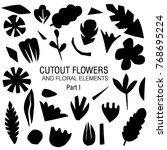 cutout flowers and floral... | Shutterstock .eps vector #768695224