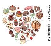 heart made of different... | Shutterstock .eps vector #768696226