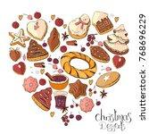 heart made of different... | Shutterstock .eps vector #768696229