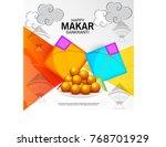 vector illustration of a banner ...   Shutterstock .eps vector #768701929