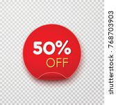tag  discount sticker isolated... | Shutterstock .eps vector #768703903