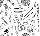 handmade kit icons seamless... | Shutterstock .eps vector #768704620