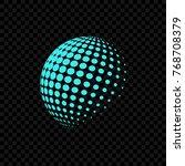 halftone globe logo | Shutterstock .eps vector #768708379