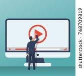 video tutorial concept.... | Shutterstock .eps vector #768709819